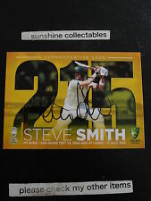2015/16 TAP N PLAY CRICKET COMMEMORATIVE SIGNATURE CARD STEVE SMITH SP4