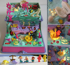 Polly Pocket Sparkling Mermaid Adventure Light up 100% COMPLETE Enchanted TOP