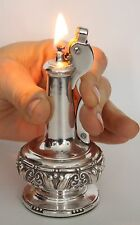 "Vintage Silverplate Ronson ""Decanter""  Table Lighter in Working Condition"