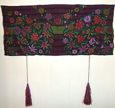 Chiapas Native Mexican HANDWOVEN EMBROIDERED Huipil Art Shawl Wrap wall hanging