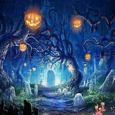 Halloween cemetery 10'x10' CP Backdrop Computer-painted Scenic Background DGX-78