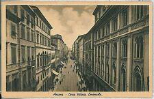 CARTOLINA d'Epoca ANCONA città : CORSO VITTORIO EMANUELE