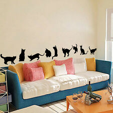 Removable Vinyl Nine Cats Wall Stickers Home DIY Art Decal Decor Kids Room Mural