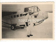 Original Foto deutsches Flugzeug Lastensegler DFS in Wintertarnung  2.WK (3)