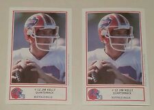 Jim Kelly 1987 ROOKIE RC 1st first Buffalo Bills Police trading cards lot of TWO
