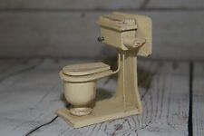 Vintage Antique Germany Painted Bathroom Toilet DollHouse Miniature Furniture