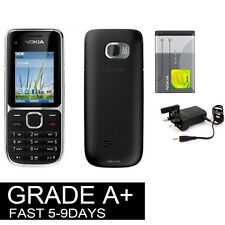 New Condition Nokia C2-01 - Black (Unlocked) Mobile Phone 3G Cheap bar phones