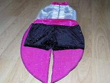 Adult Size Medium Costume Gallory Tuxedo Tails Dance Unitard Leotard Black Pink