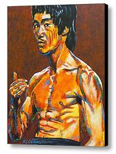 Bruce Lee ~ Hand Embellished Canvas Art Print