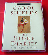 Carol Shields The Stone Diaries 2-Tape Audio Book Connie Booth Family/Historical