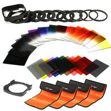 40 in1 Full and Graduated Colour ND 2 4 8 16 Filter Set 9 Adapter Ring For Cokin