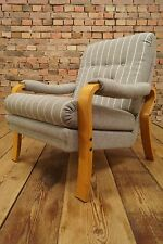 60s Retro EASY CHAIR DANISH MODERN ARMCHAIR VINTAGE WESTNOFA ERA wool fabric