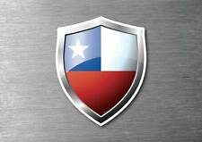 Chile flag shield sticker 3d effect quality 7 year water & fade proof