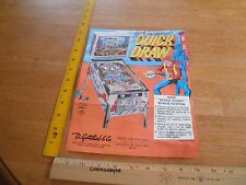 1970's Quick Draw Gotlieb Pinball Machine advertising poster flyer