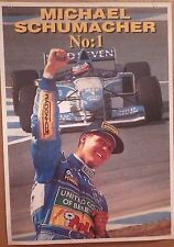 F1 POSTER~Michael Schumacher No. 1 Original NOS 24x36 Formula One Ferrari Import