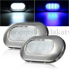 Oval LED Marine Boat Light Transom Stainless Steel Anchor Stern Waterproof 12V
