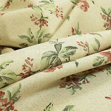 10 Metres Of Rose Flower Floral Pattern Red Soft Furnishings Upholstery Fabric