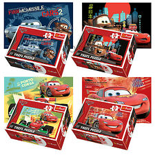 Trefl Mini 4 x 54 Pieces Kids Boys Disney Pixar Cars Lightning Jigsaw Puzzle NEW