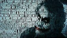 THE JOKER WORDS QUOTE - COMIC Batman Large Wall Art Canvas Print 20 x 30""