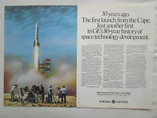 4-7/1980 PUB GENERAL ELECTRIC BUMPER 8 ROCKET CAPE CANAVERAL SPACE ORIGINAL AD