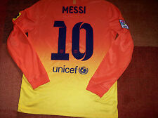 2012 Barcelona Away L/s Long sleeved Football Shirt Messi Camiseta Medium