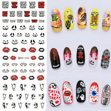 1PC Halloween Nail Art Water Decals de Vampire Dent Water Sticker DS-242
