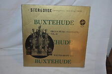 BUXTEHUDE WALTRER KRAFT  ORGAN MUSIC  STEREO VOX BOX  3 ALBUM LP RECORD SEALED