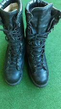 MATTERHORN 1949 Mens Black Leather STEEL TOE SZ 10M THINSULATE Boots  Military