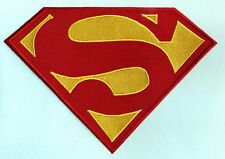 """7"""" x 10"""" Embroidered Dean Cain style Superman Red & Yellow Chest Logo Patch"""