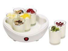 Bestron Yoghurt Maker DYM800 1Liter 14Watt 7x Glasbehälter Joghurtbereiter Weis