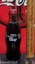 1999 ARMY VS NAVY 100TH GAME DECEMBER 4 1999 8 OUNCE GLASS COCA - COLA  BOTTLE