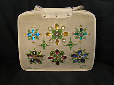 Enid Collins GLAD FLOWERS Large Canvas Bag Purse, VERY CLEAN!