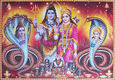 "LORD SHIVA, Parvati, with Male Female Snakes - Big Size POSTER (20""x30"")"