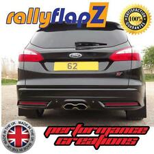 Rally Style Mudflaps to fit FORD FOCUS ST MK3 ST250 (2012 ) ESTATE Black 4mm PVC