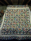 Hand Made New England 81 x 86 Scrappy 9 Patch Quilt