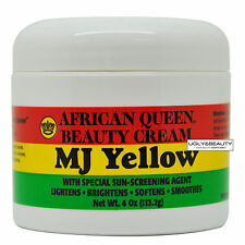 African Queen Beauty Cream MJ Yellow 4 Oz / 113.2 g