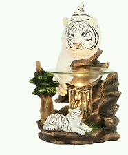 White Tiger  Poly Resin Electric Oil Burner Free Shipping