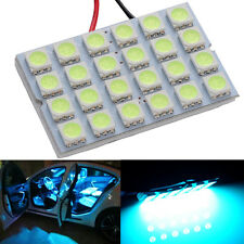 1x LED Ice Blue Dome Map Interior Light Bulb 24 SMD Square Panel Xenon HID Lamp