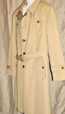 CHRISTIAN DIOR TAILORED MENS 44 L WOOL LINED VINTAGE  TRENCH COAT