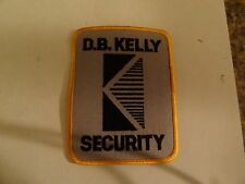 PATCH LAW ENFORCEMENT POLICE SECURITY D B KELLY SECURITY