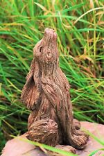 Garden Ornament March Hare Rabbit Animal Sculpture indoor outdoor Wood Effect