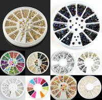 DIY Manicure Rhinestone Resin Acrylic 3D Nail Art Tips Decoration Wheel JT12
