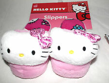HELLO KITTY SLIPPERS BY SANRIO FOR KIDS GIRLS LARGE(11-12)  PINK WITH HK PRINTS
