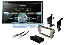 CAMRY PIONEER DOUBLE 2 DIN CAR STEREO RADIO RECEIVER W COMPLETE INSTALLATION KIT