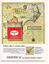 PUBLICITE ADVERTISING  1963   CRAVEN A  cigarettes
