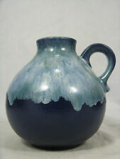 "Beautiful GLAZED 70´s WGP design Ruscha CERAMICA VASO Blue ""LAVA"" Glaze 322"
