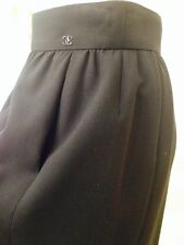 Auth. NWOT CHANEL CC Logos Black Wool Skirt Size 36