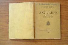 ANNUARIO ACCADEMIA MILITARE ANNO SCOLASTICO 1910 1910 TORINO