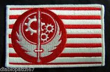 Fallout Game Brotherhoods of Steel BOS FLAG 100% Embroidery  3x2 Inches velcro