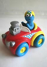Fisher Price Sesame Street Press and Go Racer Car -1998 Tyco, Cookie Monster